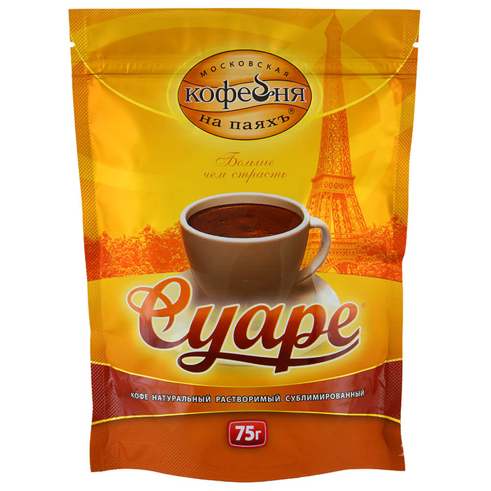 Кофе растворимый Московская кофейня на паяхъ Суаре 75г кофе растворимый московская кофейня на паяхъ суаре 75г