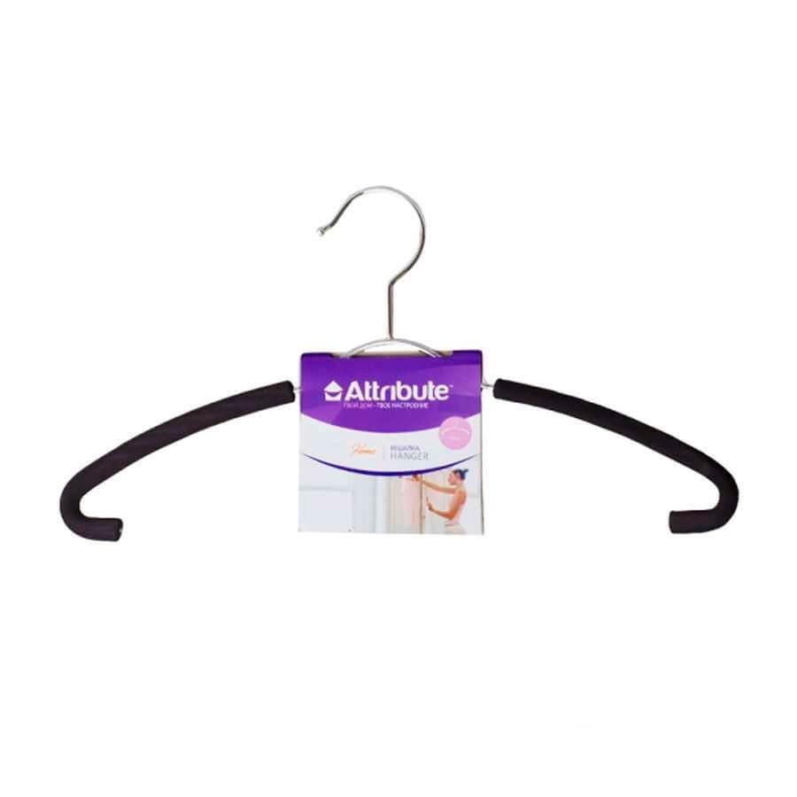Вешалка для рубашек Eva Black 41см металл ahm791 вешалка attribute eva black 45см для верхней одежды металл поролон