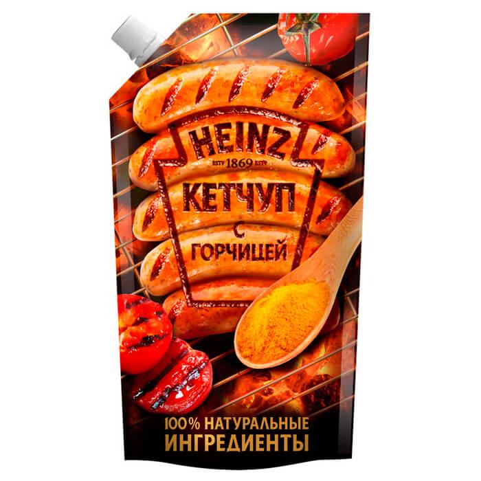 Кетчуп Heinz 350г с горчицей дой-пак