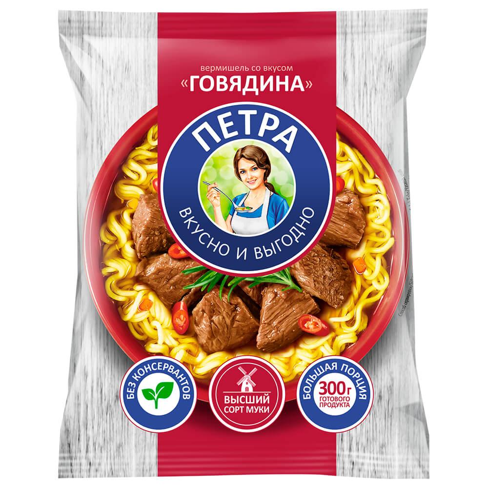 Вермишель петра 50 г б/п со вкусом говядины
