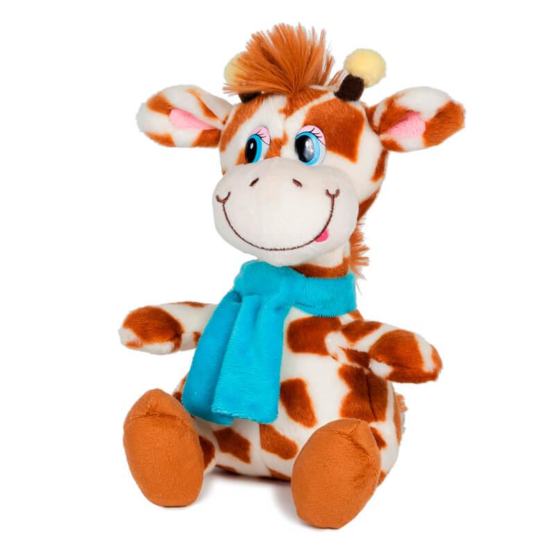 Мягкая игрушка жираф димон в шарфике 20см озвученный для самых маленьких 3 раз два три четыре