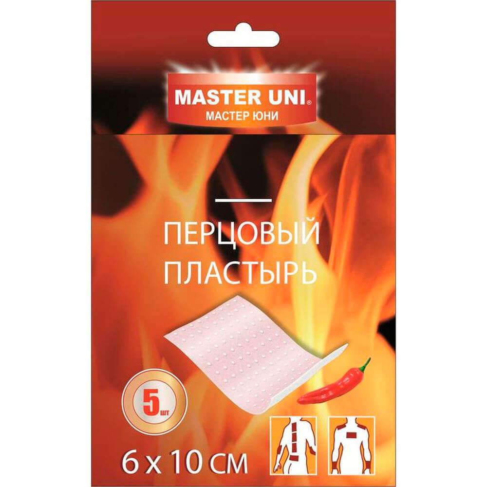 Фото - Пластырь перцовый Master Uni 6 х 10см согревающий перфорированный на тканевой основе лейкопластырь master uni фикс 3х 500 см на тканевой основе