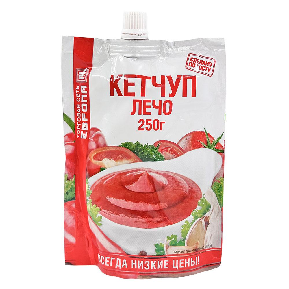 Кетчуп Европа 250г лечо дой-пак гост