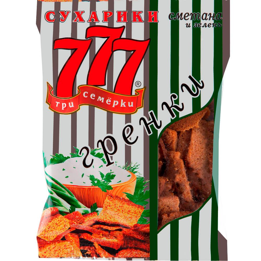 Гренки 777 50гр сметана и зелень