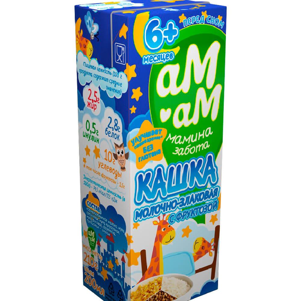 Каша молочно-злаковая Ам-Ам 210г 2,5% с 6-ми месяцев