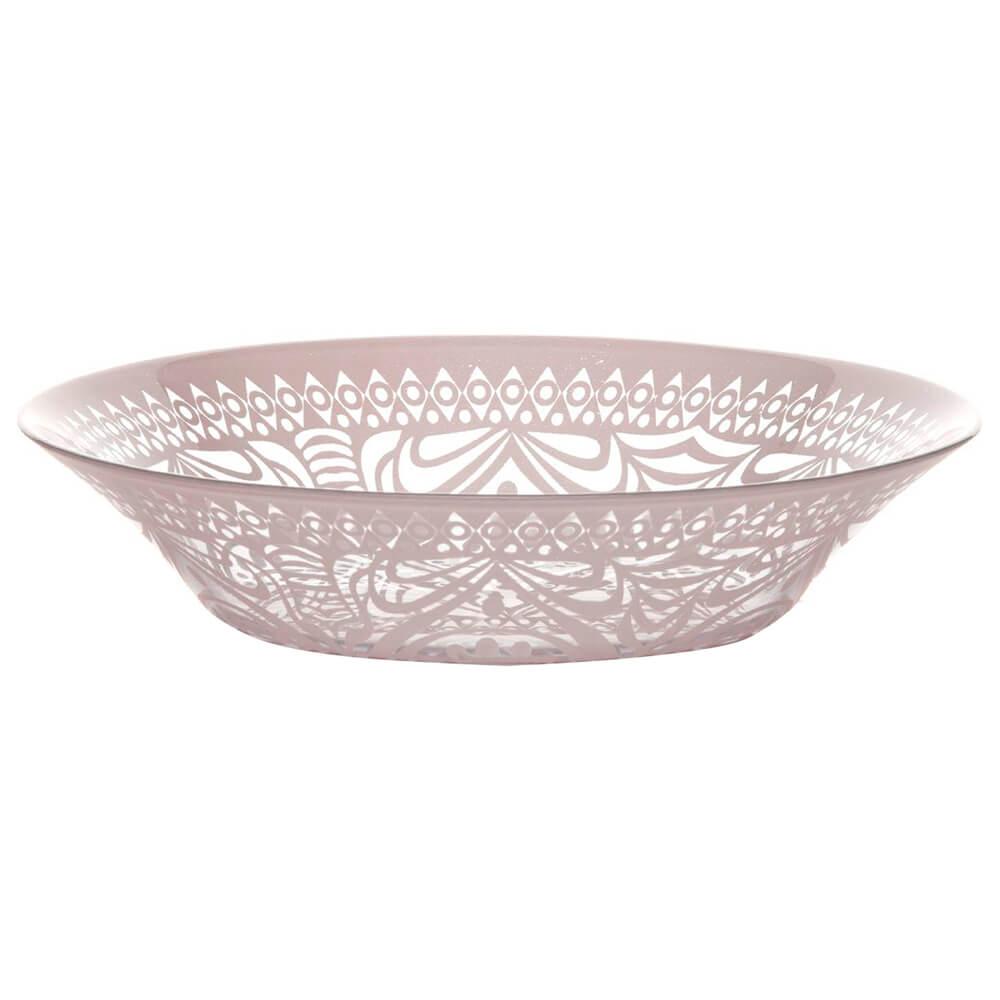 Тарелка обеденная 22см Pasabahce бохо розовая psb 10335убсл1