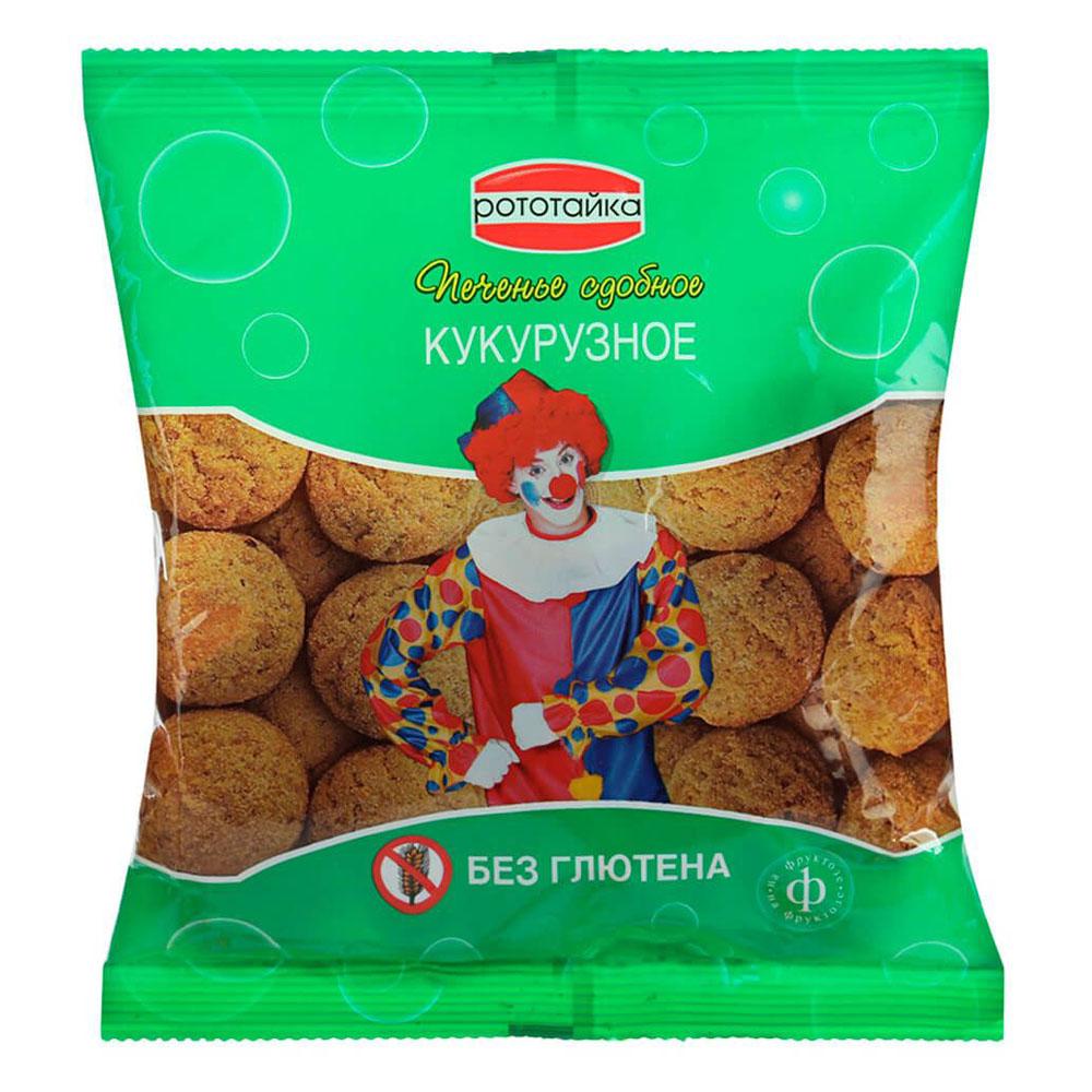 Печенье безглютеновое рототайка кукурузное на фруктозе 200г