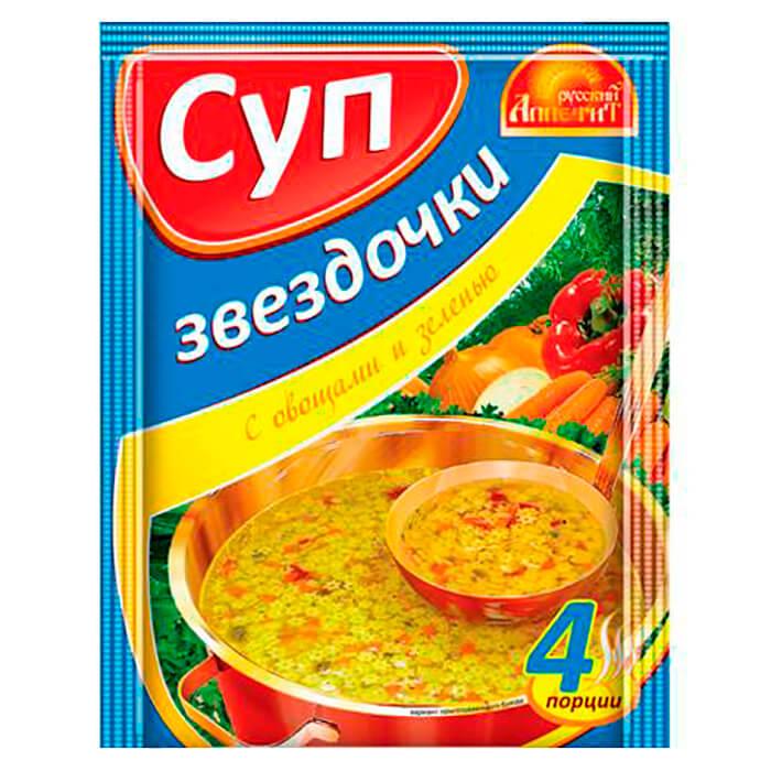 Фото - Суп Русский аппетит 60г звездочки с овощами и зеленью магги суп звездочки maggi