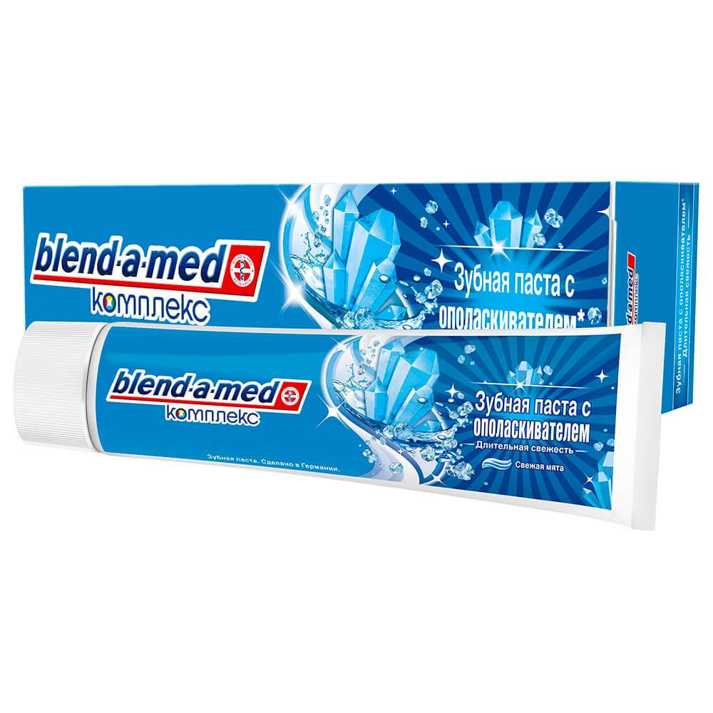Зубная паста Blend-a-Med 100мл комплекс с ополаскивателем свежая мята