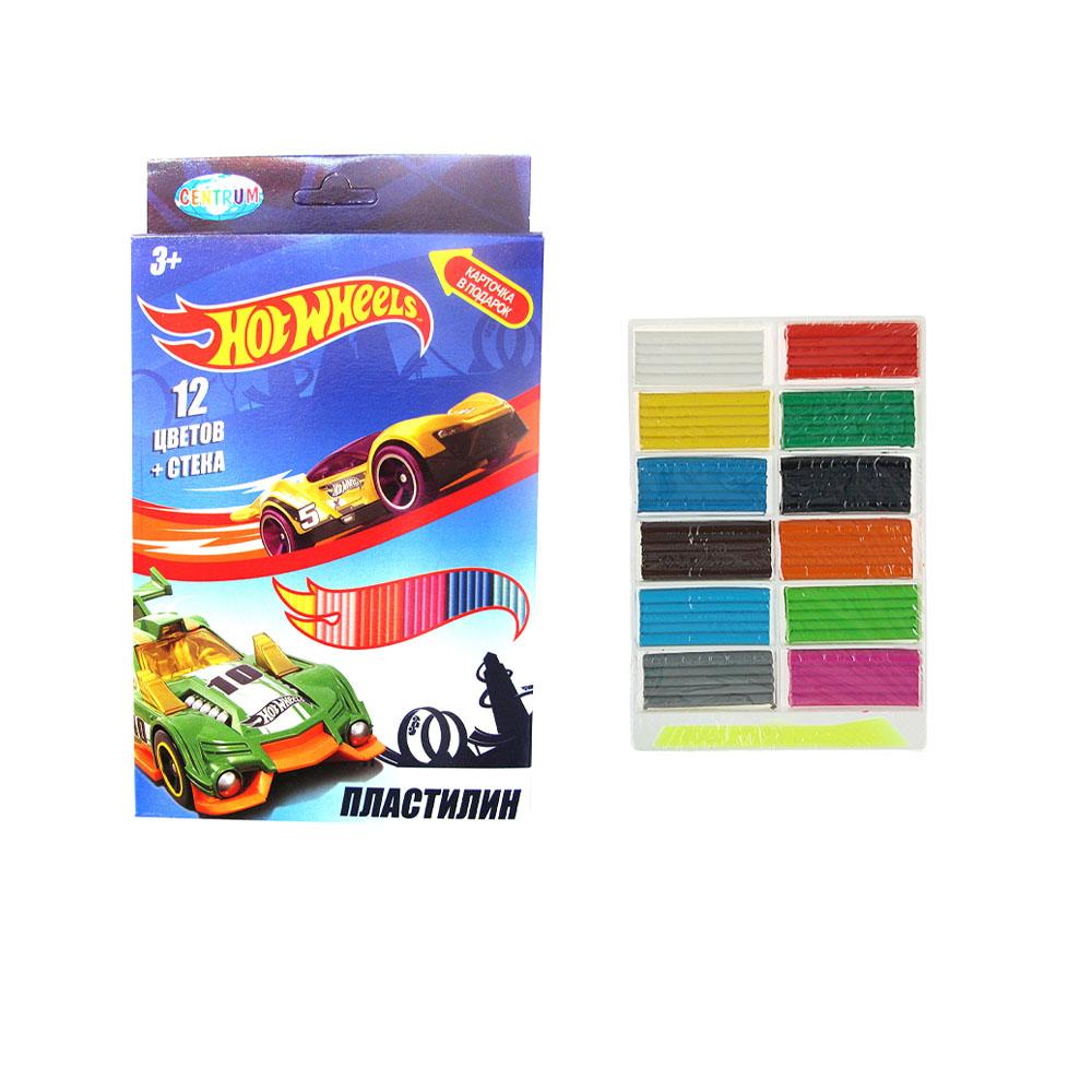 Пластилин 12цв 240гр Centrum Hot Wheels стек 88620