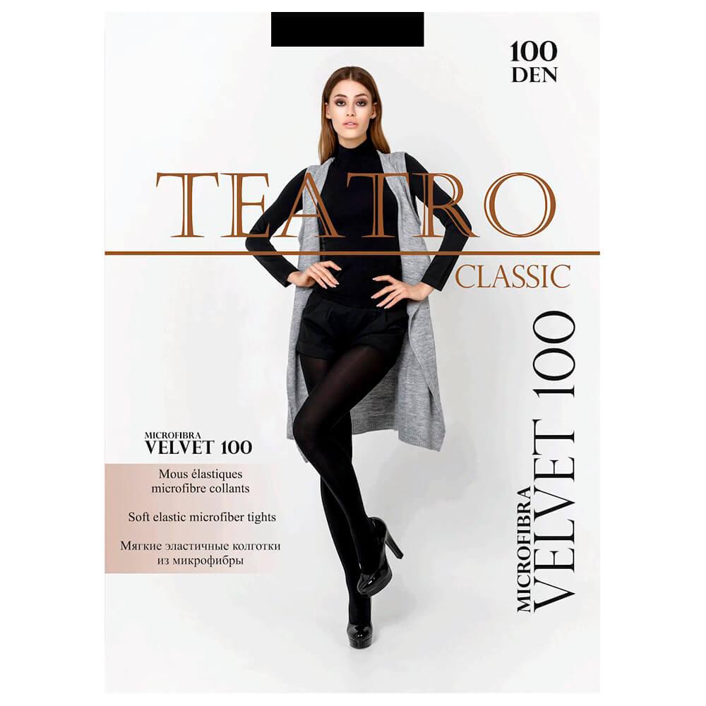 Колготки женские Teatro велвет 100 ден неро р.4