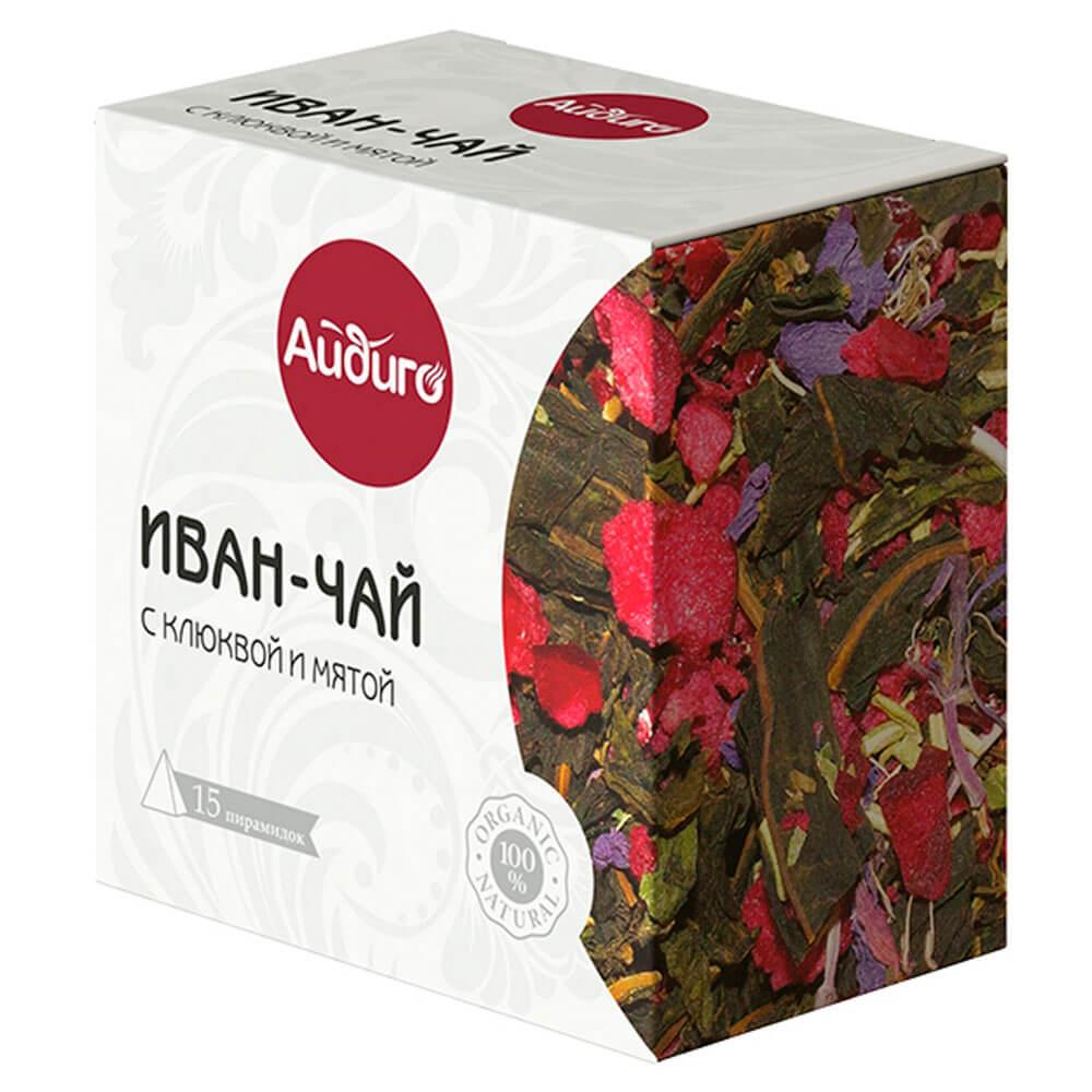 Иван-чай Айдиго 15пир*2г с клюквой и мятой