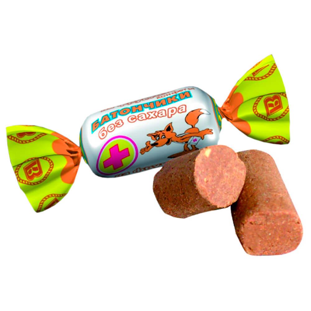 Конфеты батончики на фруктозе 200г воронежская кф