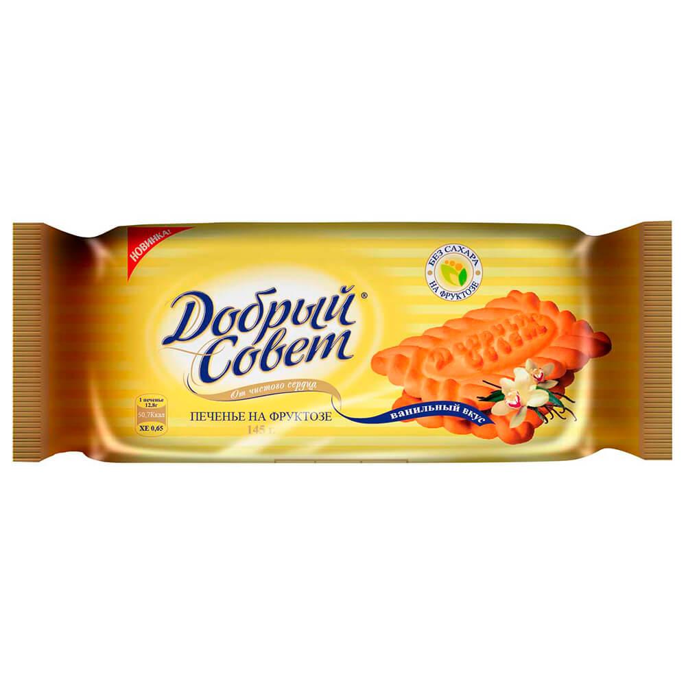 Печенье добрый совет ванильный на фруктозе 145г Воронежская КФ