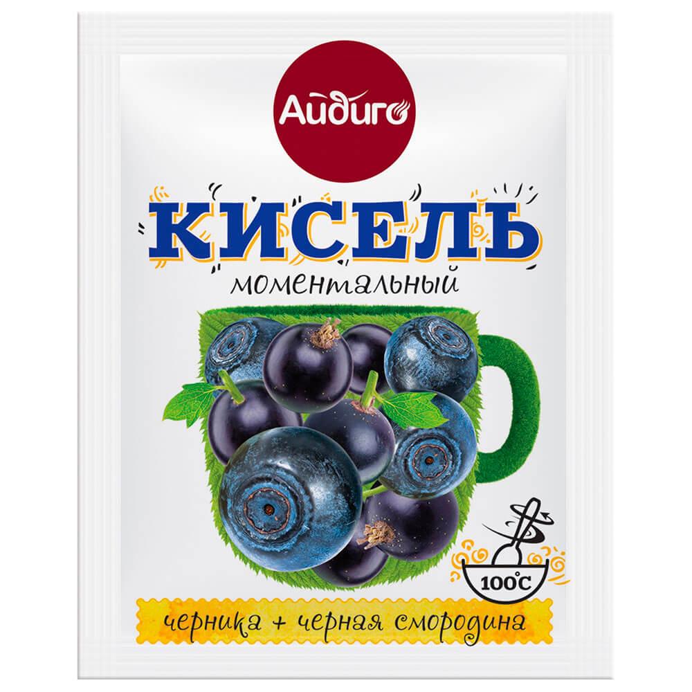 Кисель Айдиго моментальный 30г черника+черная смородина