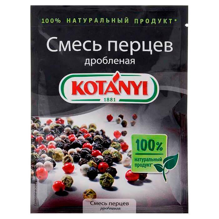 Приправа Kotanyi 12г смесь перцев дробленая пакет смесь перцев kotanyi с паприкой мельница 50 г