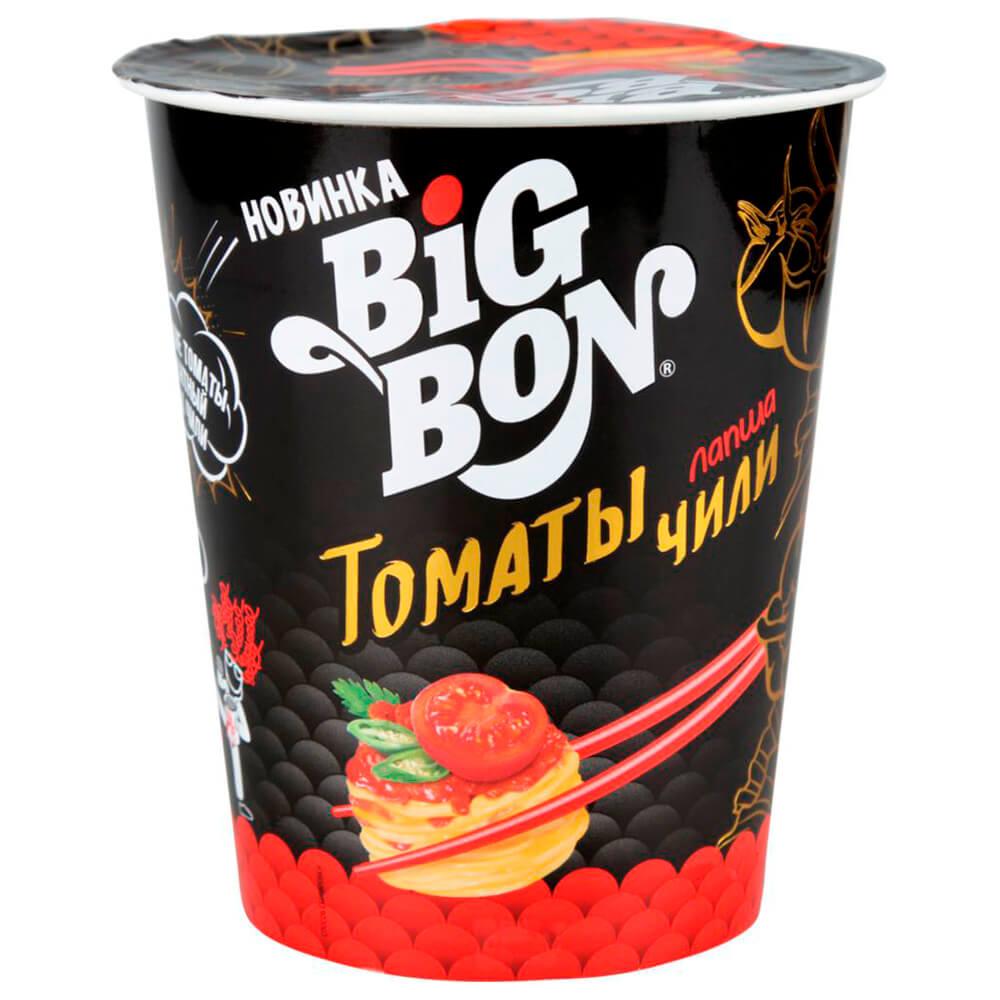 Лапша Big Bon 70г с томатами и перцем чили стакан бальзамический крем leonardi с перцем чили 175 мл
