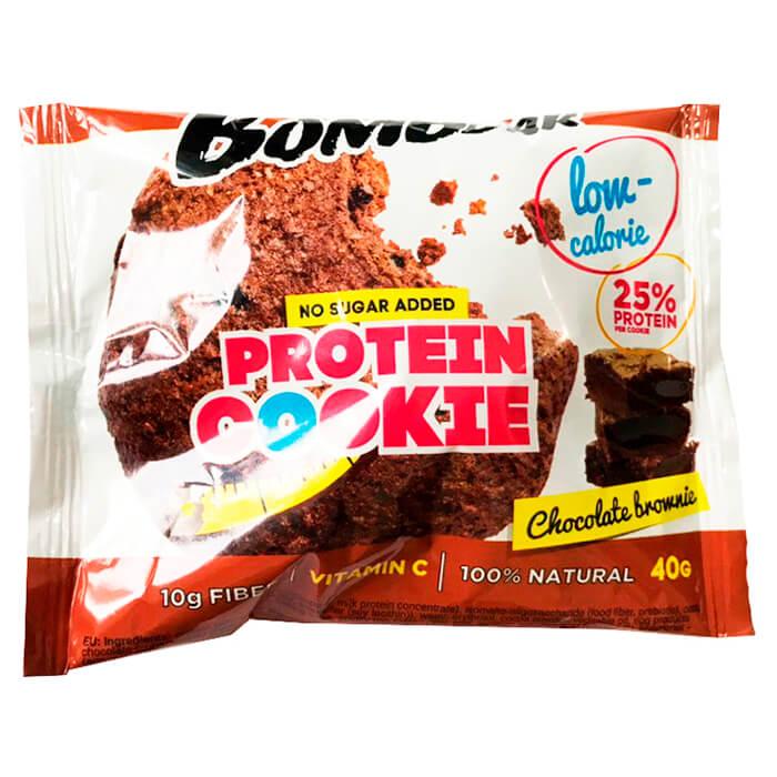 Печенье низкокалорийное протеиновое Bombbar 40гр шоколадный брауни