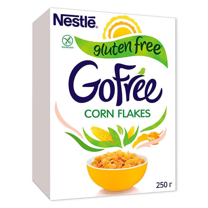 Фото - Готовый завтрак Gofree 250г хлопья кукурузные без глютена nestle хлопья кукурузные nestle gold snow flakes 300 г