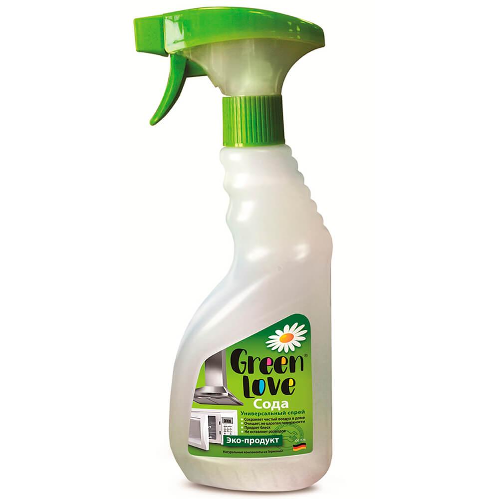 Фото - Спрей Green Love 500мл с содой универсальный sano jet универсальный очиститель различных поверхностей с пищевой содой 750 мл спрей