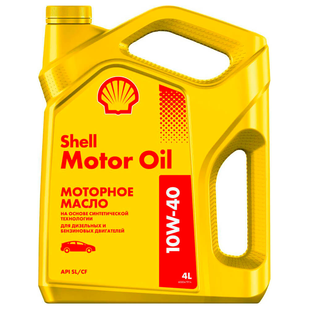 Масло моторное 4 л Shell motor oil 10w-40