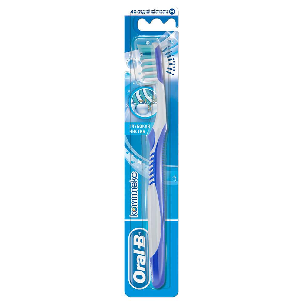 Зубная щетка орал-би комплекс глубокая чистка 40 средняя