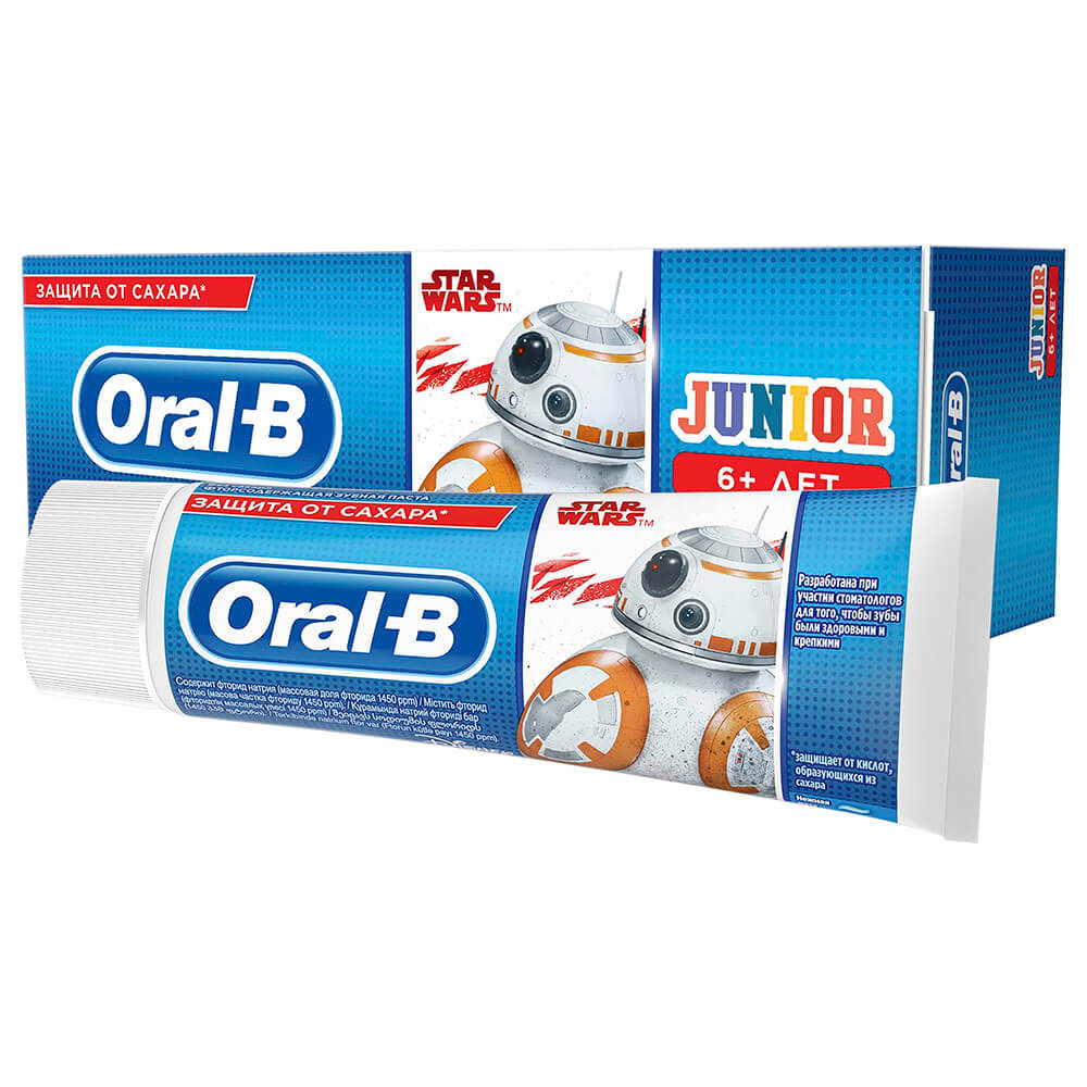 Зубная паста орал-би 75мл юниор 6+ нежная мята