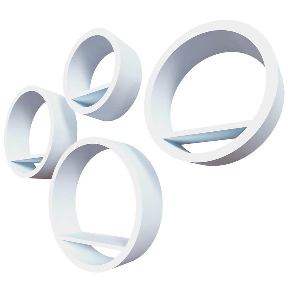 Комплект полок Qwerty торонто белый 40*10см 35*10см 30*10см 25*10см