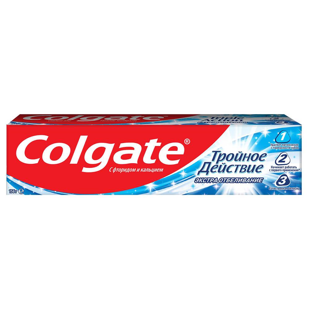 Зубная паста Colgate 100мл тройное действие экстра отбеливание