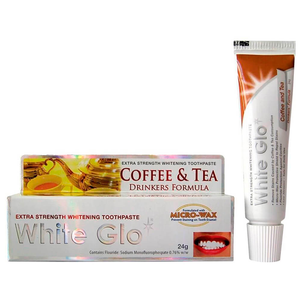 Зубная паста White Glo 16мл отбеливающая для любителей кофе и чая