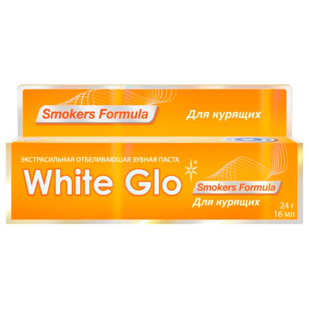 Зубная паста White Glo 16мл отбеливающая для курящих