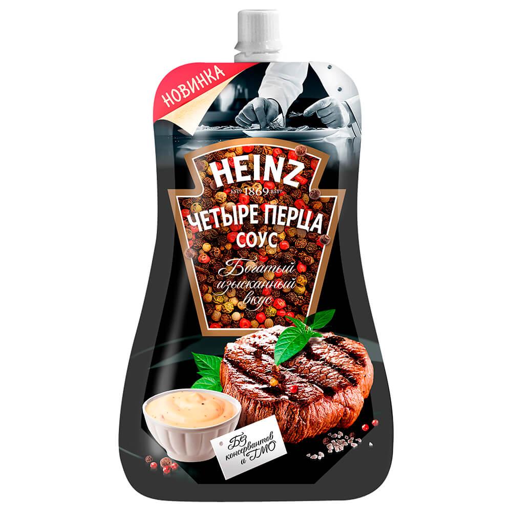 Соус Heinz 230г 4 перца дой-пак