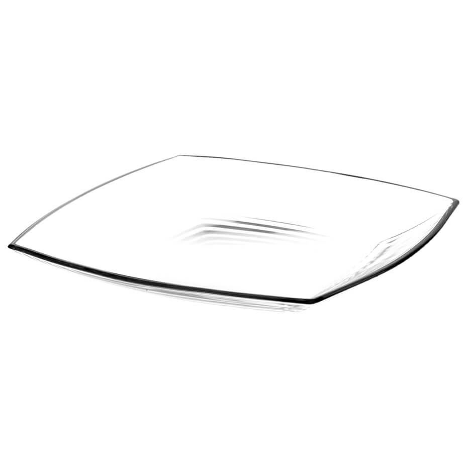 Тарелка Квадратная 17,2см 6шт плоская прозрачная