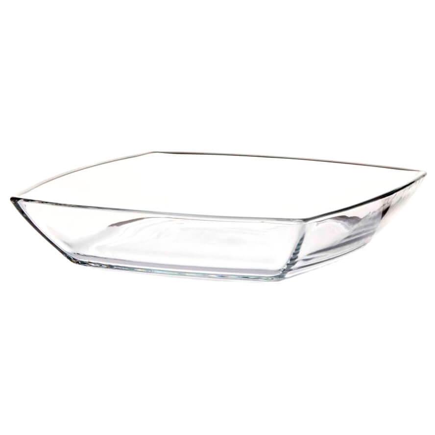 Тарелка Квадратная 17,2см 6шт глубокая прозрачная