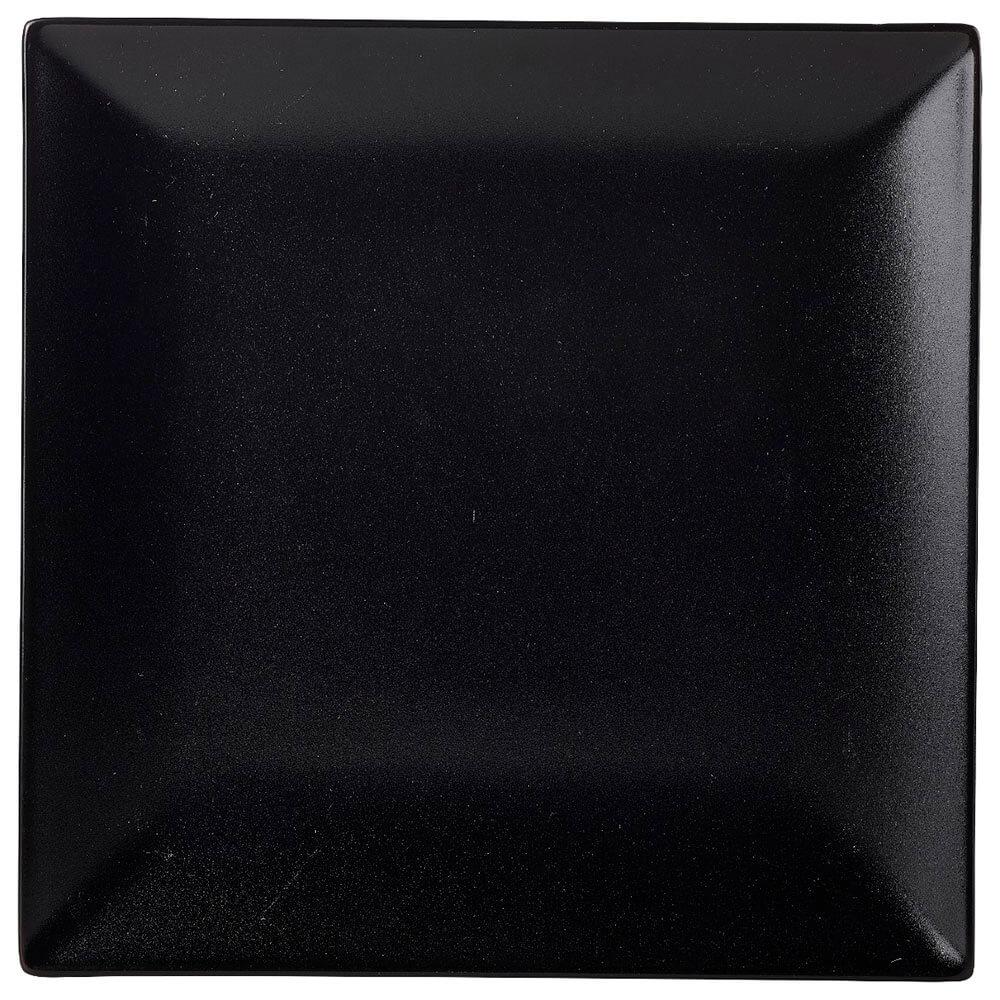 Тарелка Квадратная 17,2см 6шт глубокая черная