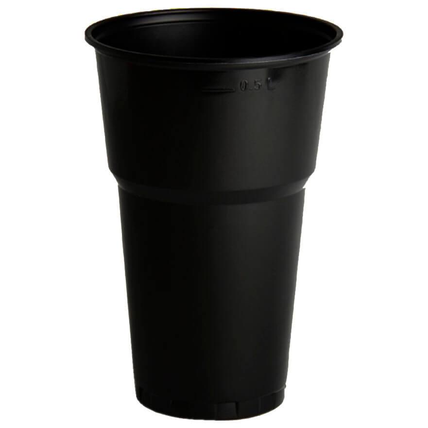 Стакан 500мл 5шт черный