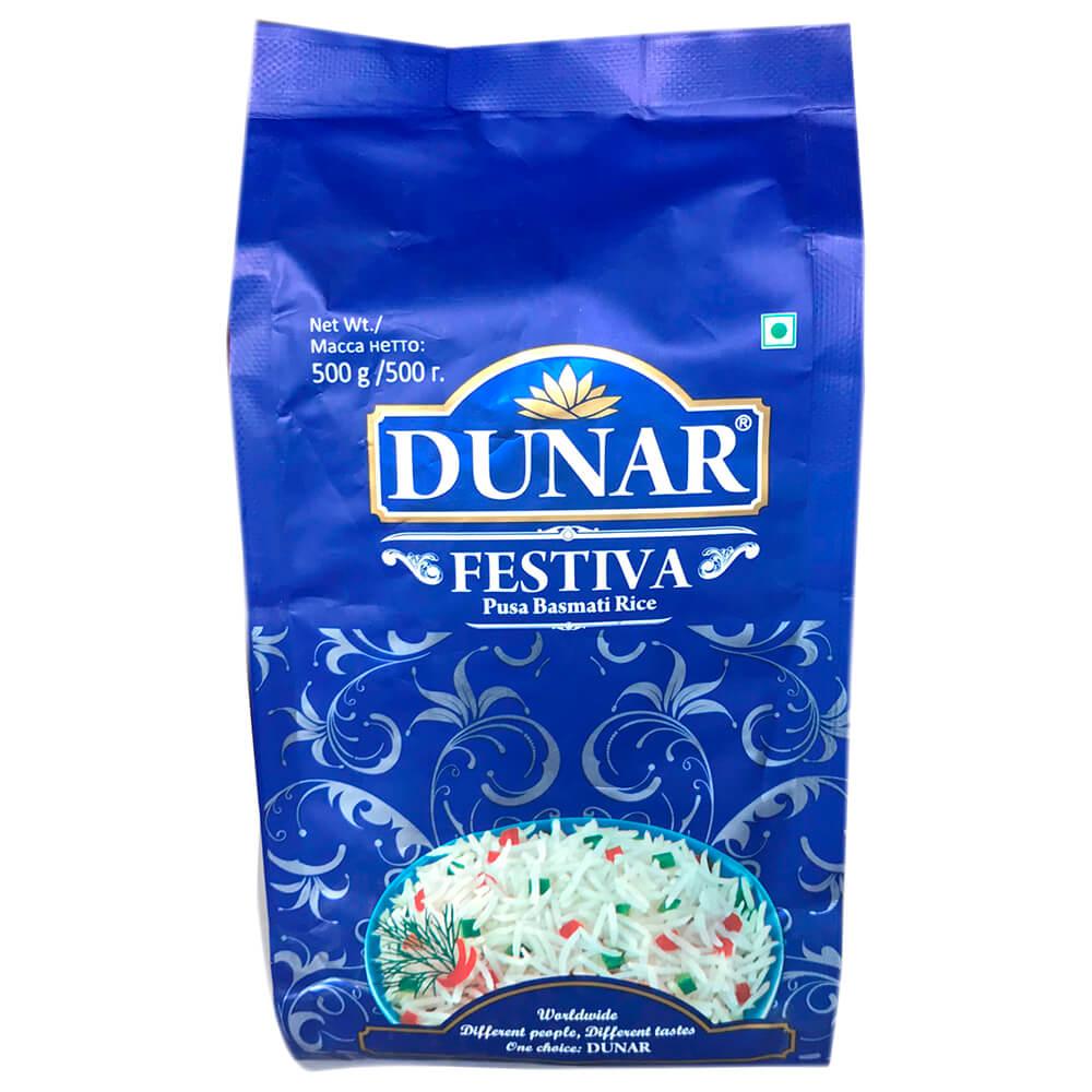 Крупа рис Dunar 500г басмати фестива недорого