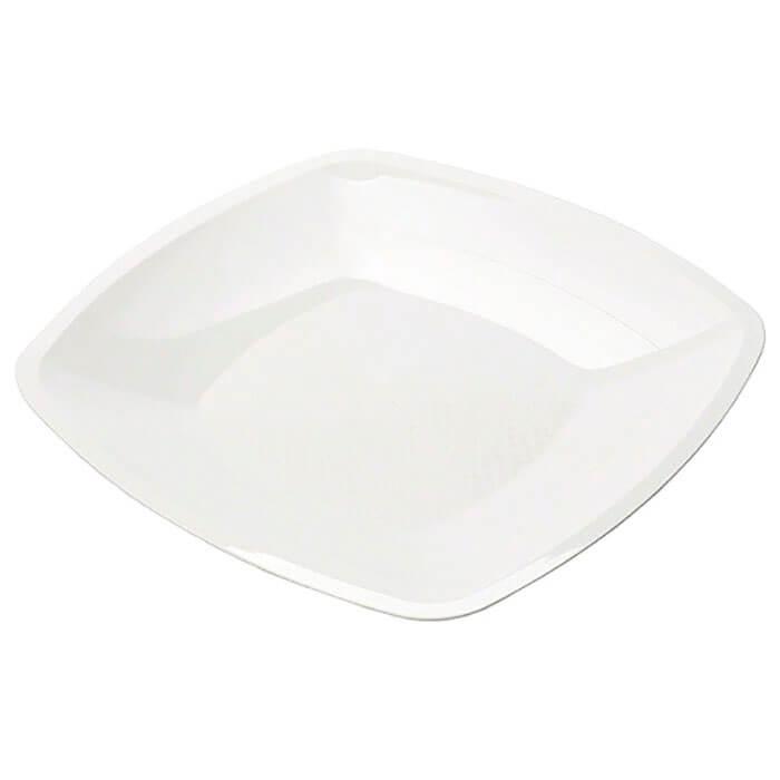 Тарелка Квадратная 18см 3шт Buffet белая