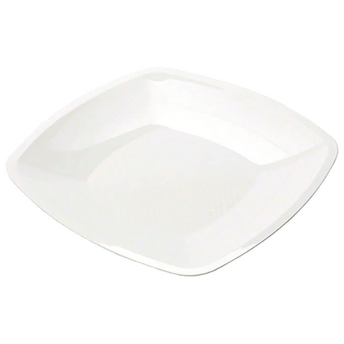 Тарелка Квадратная 23см 3шт Buffet белая