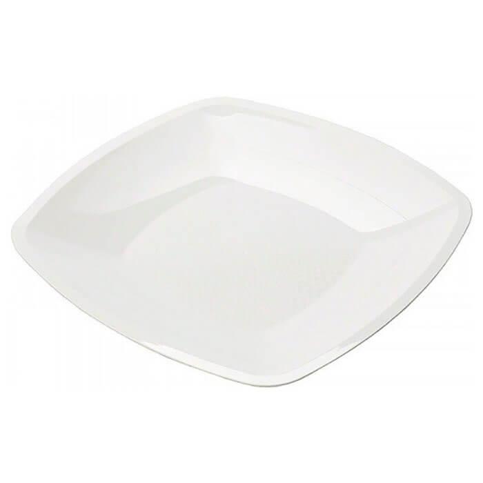 Тарелка Квадратная 30см 3шт Buffet белая