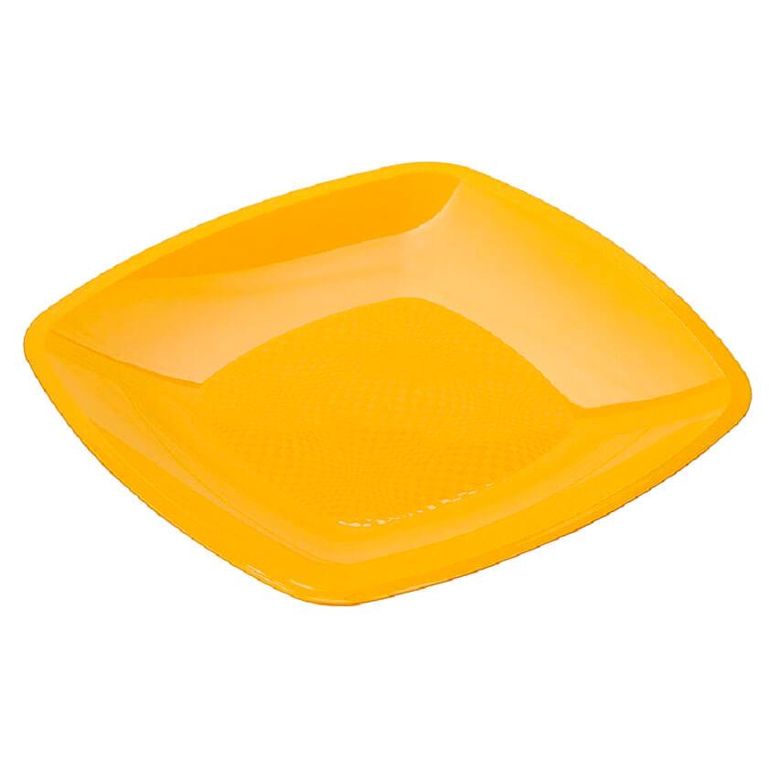 Тарелка Квадратная 30см 3шт Buffet желтая