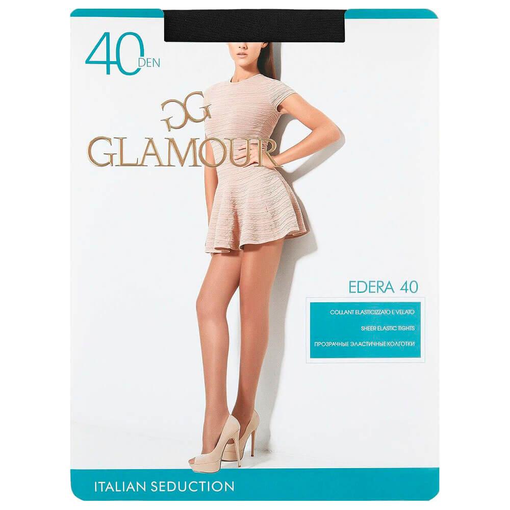 Колготки женские Glamour идера 40 ден р.2 неро бордюр настенный 40 5х6 2 дефиле неро черный