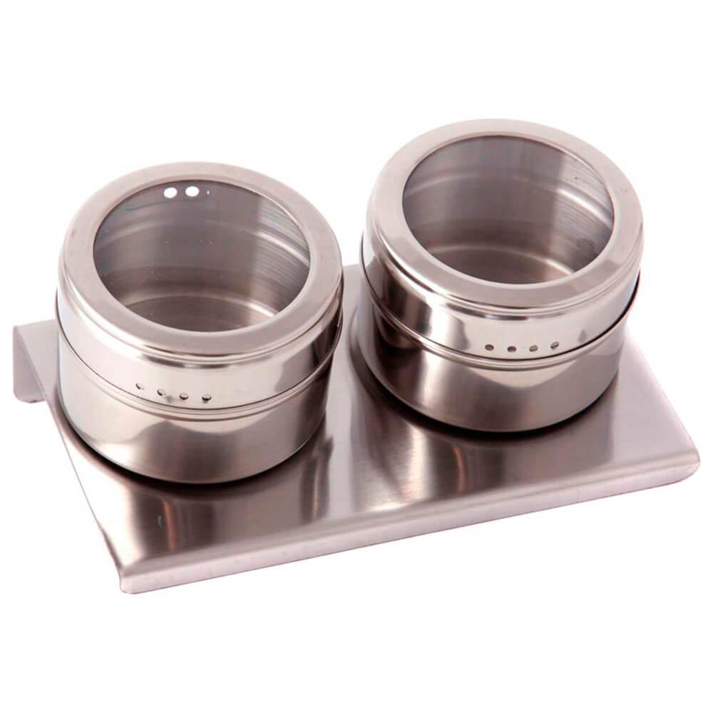 Набор для специй 3пр 14*9*5см Арти-М Agness магниты+металлическая подставка 912-008