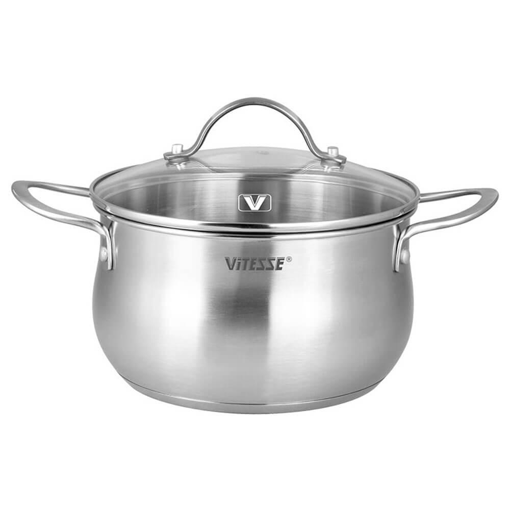 Набор посуды 5пр Vitesse мелани нержавеющая сталь vs-2061