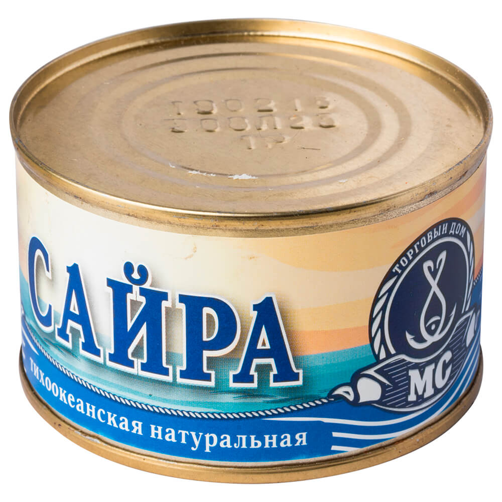 Сайра морское содружество 240г натуральная ж/б