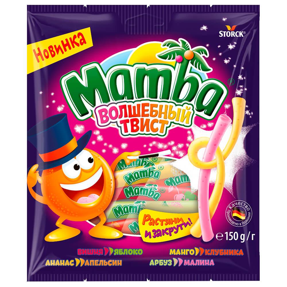 Конфеты жевательная Мамба 150г волшебный твист