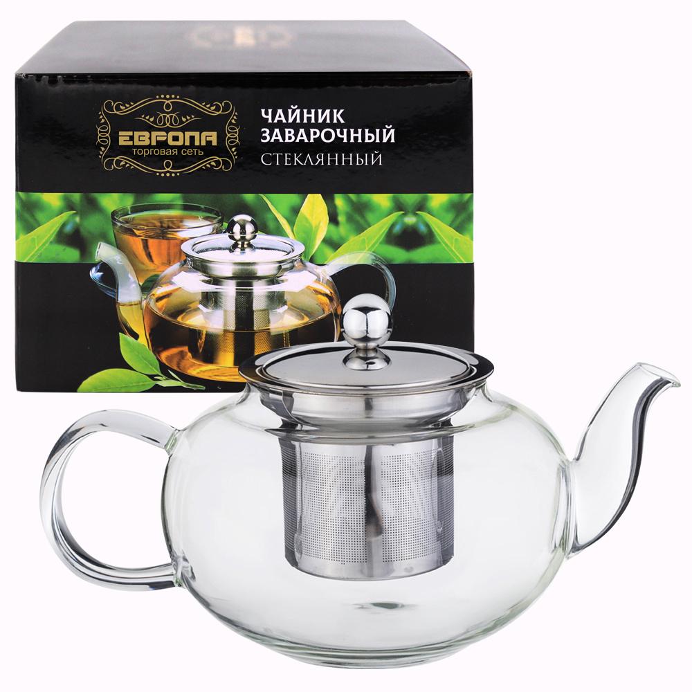 Чайник заварочный 600мл Европа стекло ccs-340104