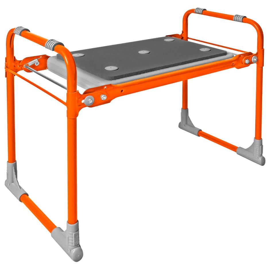 Скамейка садовая Nika мягкое сиденье оранжевая скм2