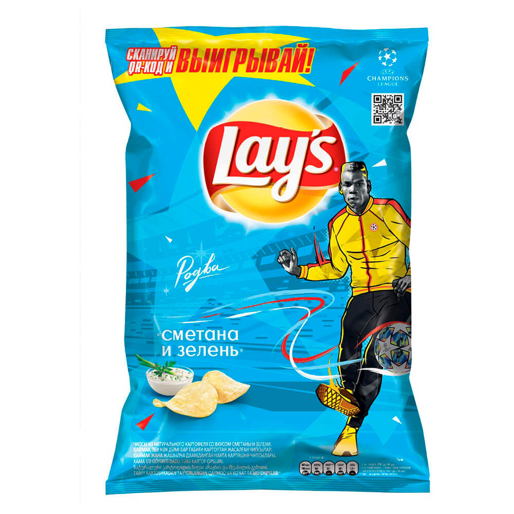 Фото - Чипсы Lays 90г сметана зелень чипсы lays вкус васаби и авокадо 90г