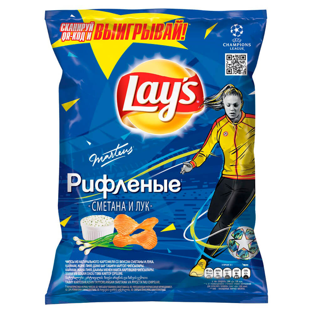 Фото - Чипсы Lays 90г сметана лук чипсы lays вкус васаби и авокадо 90г